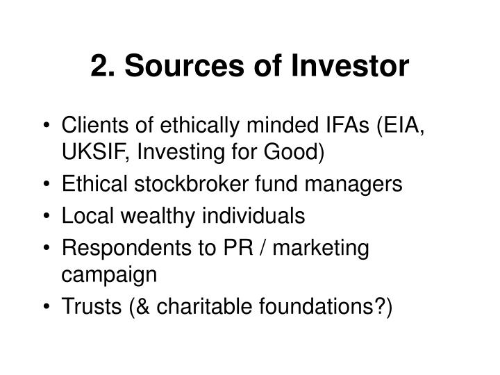 2. Sources of Investor