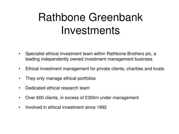 Rathbone Greenbank Investments