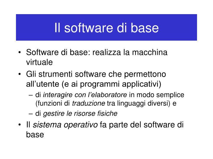Il software di base