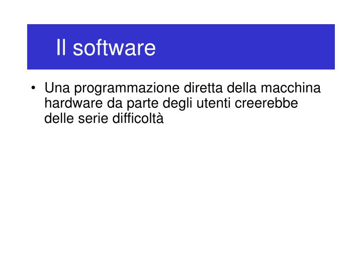 Il software