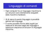 linguaggio di comandi