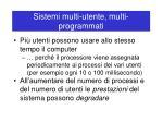 sistemi multi utente multi programmati