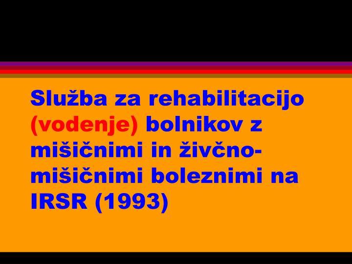 Služba za rehabilitacijo