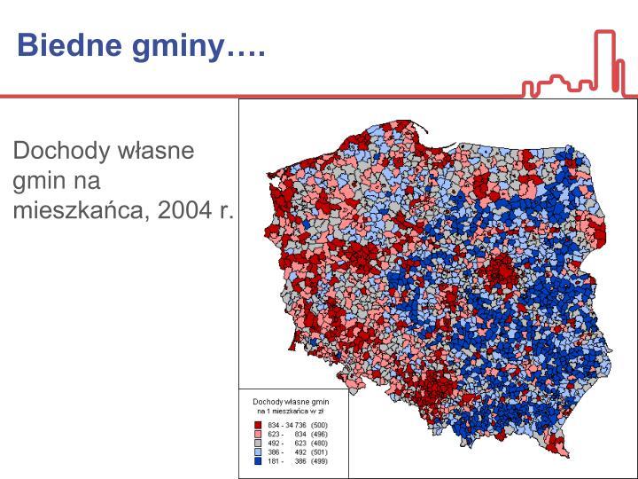 Biedne gminy….