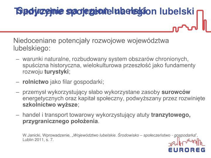Niedoceniane potencjały rozwojowe województwa lubelskiego: