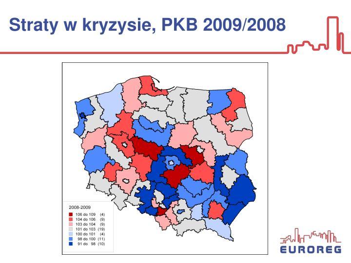 Straty w kryzysie, PKB 2009/2008