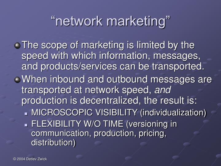 """network marketing"""
