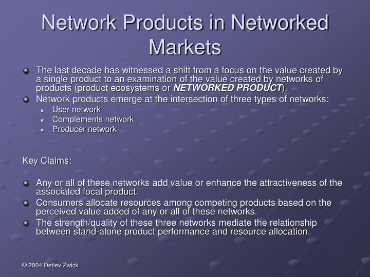 Network Products in Networked Markets