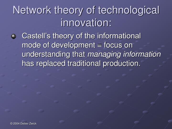 Network theory of technological innovation: