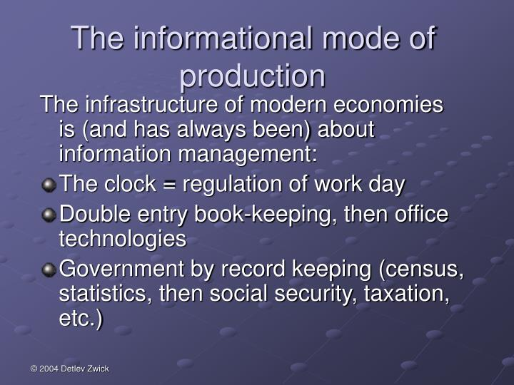 The informational mode of production