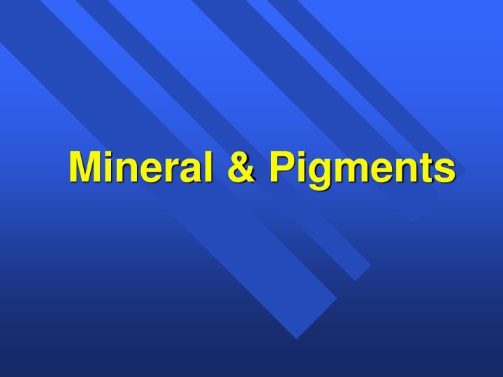 Mineral & Pigments