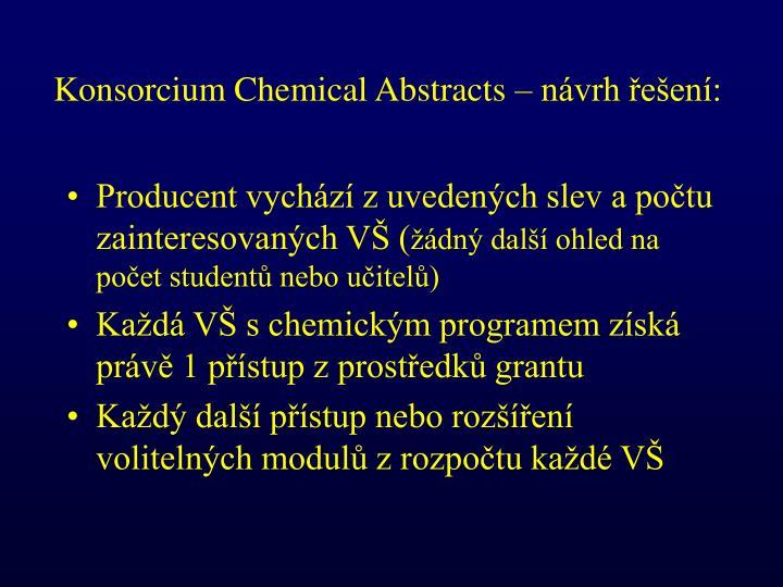 Konsorcium Chemical Abstracts – návrh řešení: