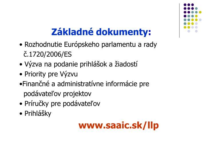 Základné dokumenty