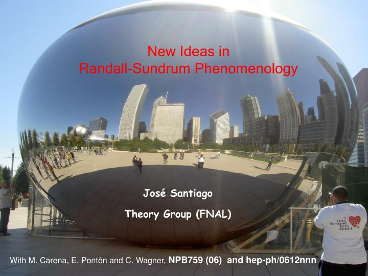 New ideas in randall sundrum phenomenology