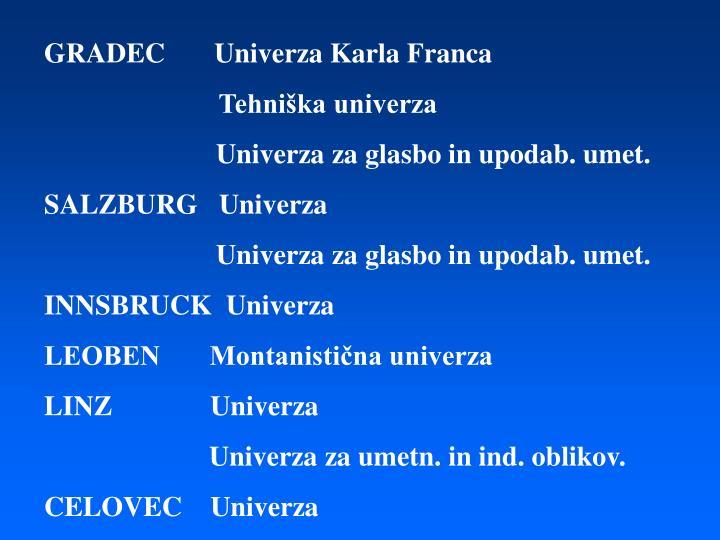 GRADEC       Univerza Karla Franca