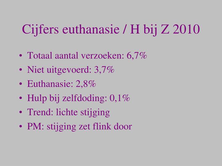 Cijfers euthanasie / H bij Z 2010