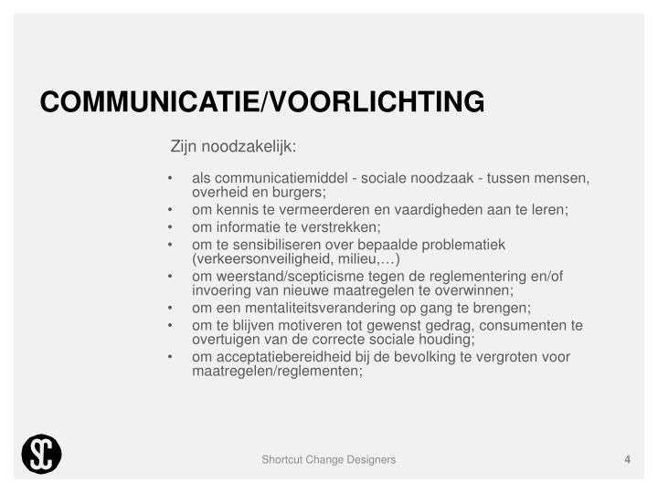 Communicatie/voorlichting