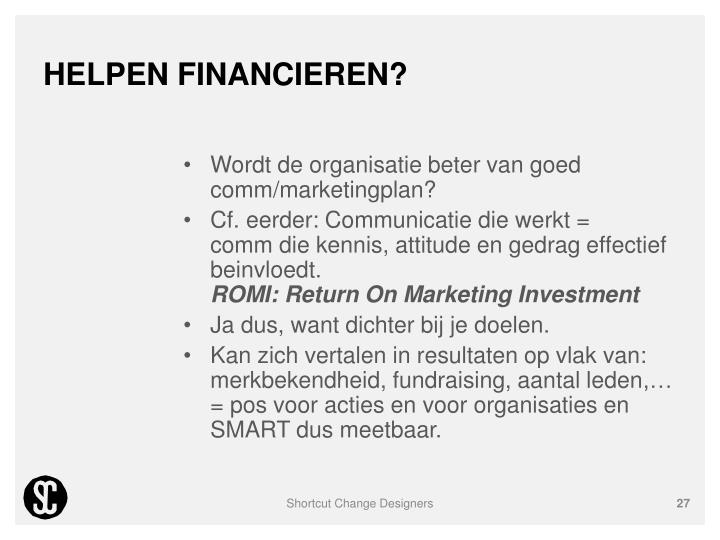 Helpen financieren?