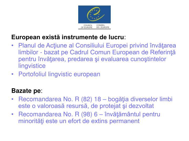 European există instrumente de lucru