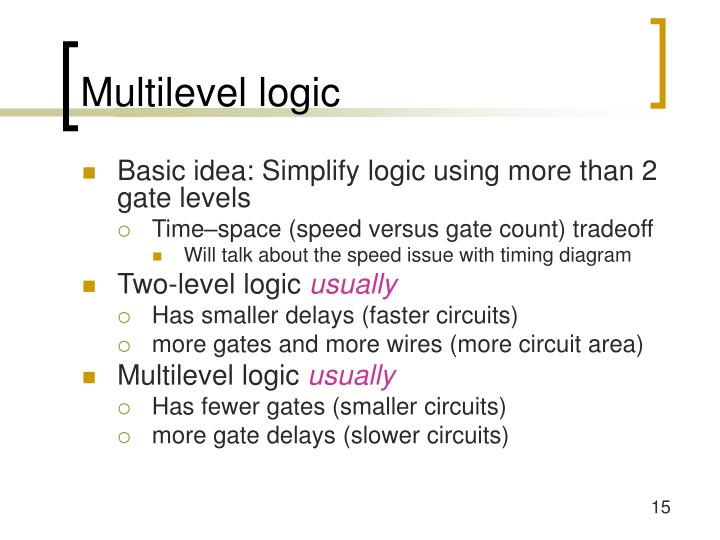 Multilevel logic
