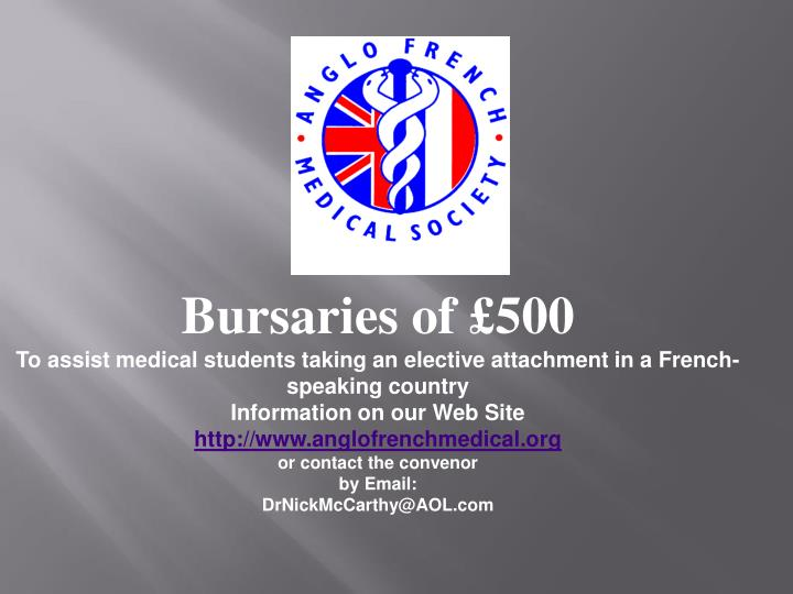 Bursaries of £500