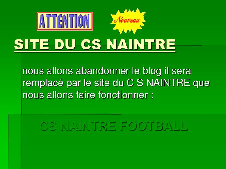 SITE DU CS NAINTRE