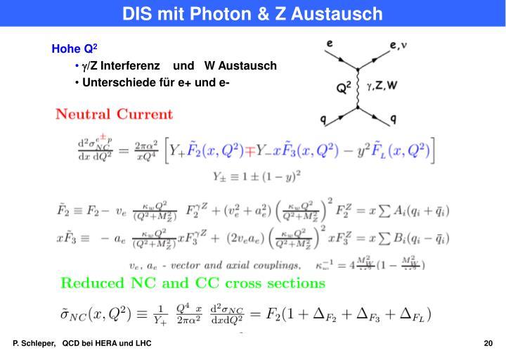 DIS mit Photon & Z Austausch