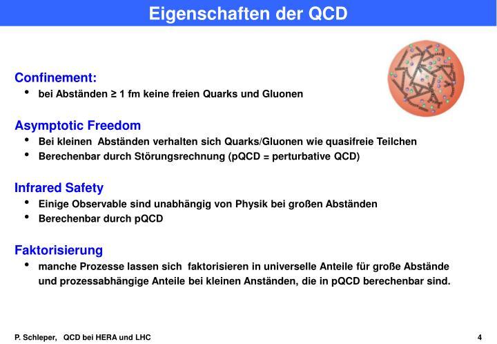 Eigenschaften der QCD