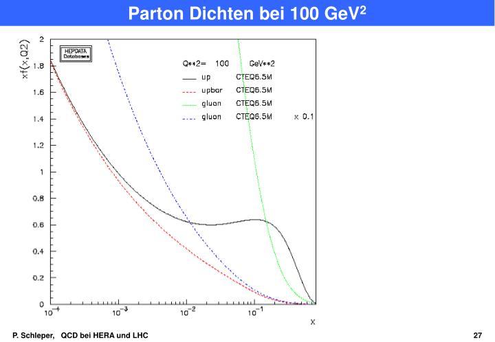 Parton Dichten bei 100 GeV