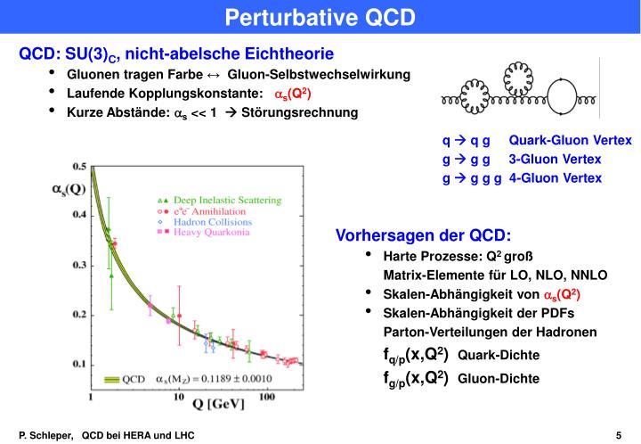 Perturbative QCD