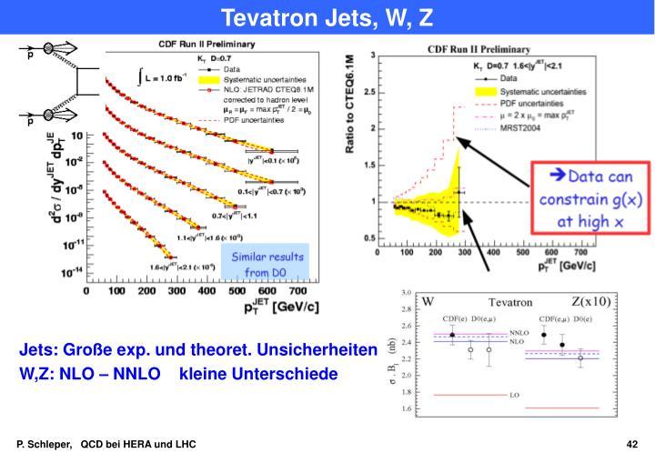 Tevatron Jets, W, Z