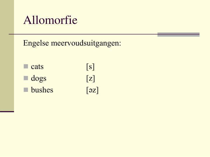 Allomorfie