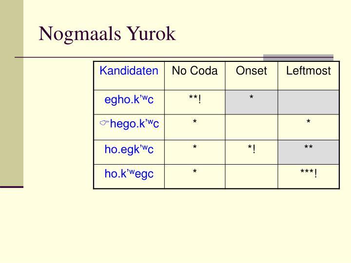 Nogmaals Yurok