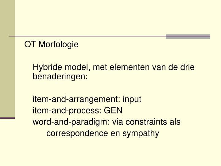 OT Morfologie