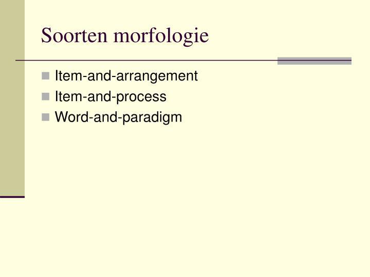 Soorten morfologie