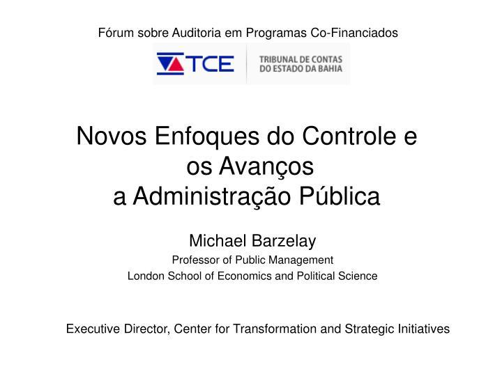 Fórum sobre Auditoria em Programas Co-Financiados