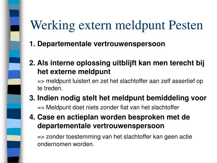 Werking extern meldpunt Pesten