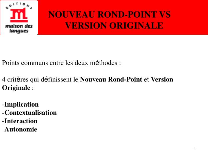 NOUVEAU ROND-POINT VS