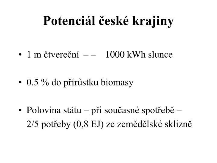 Potenciál české krajiny