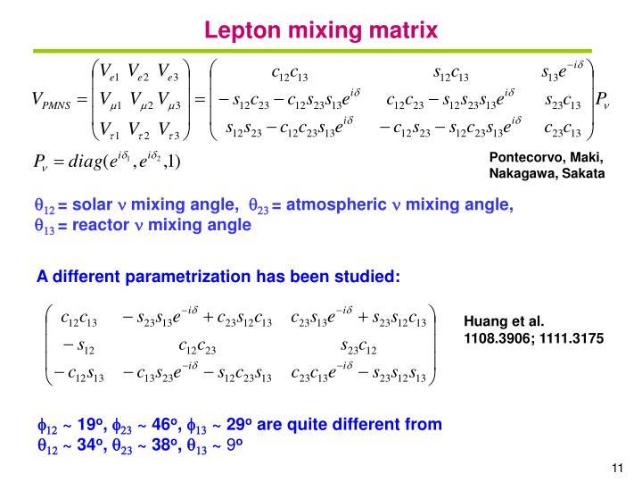 Lepton mixing matrix