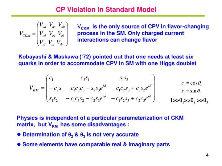 CP Violation in Standard Model