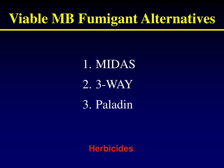 Viable MB Fumigant Alternatives