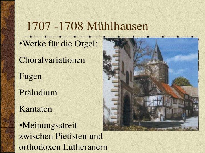 1707 -1708 Mühlhausen
