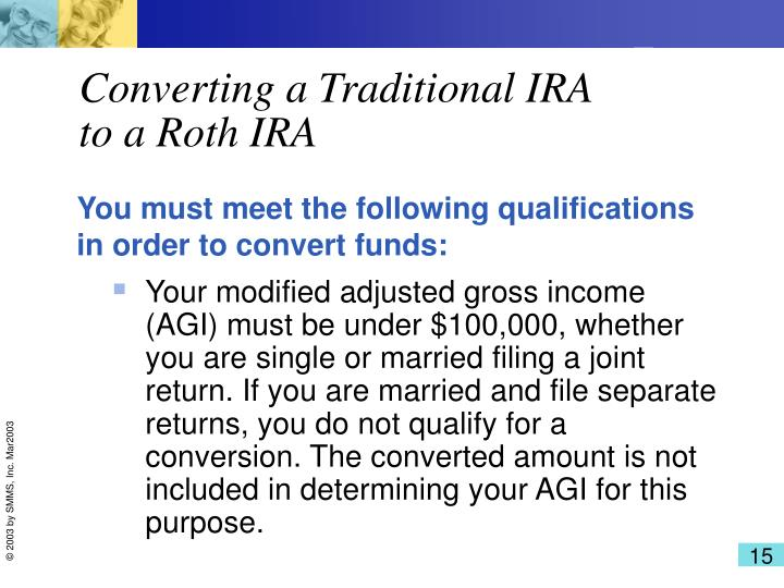 Converting a Traditional IRA