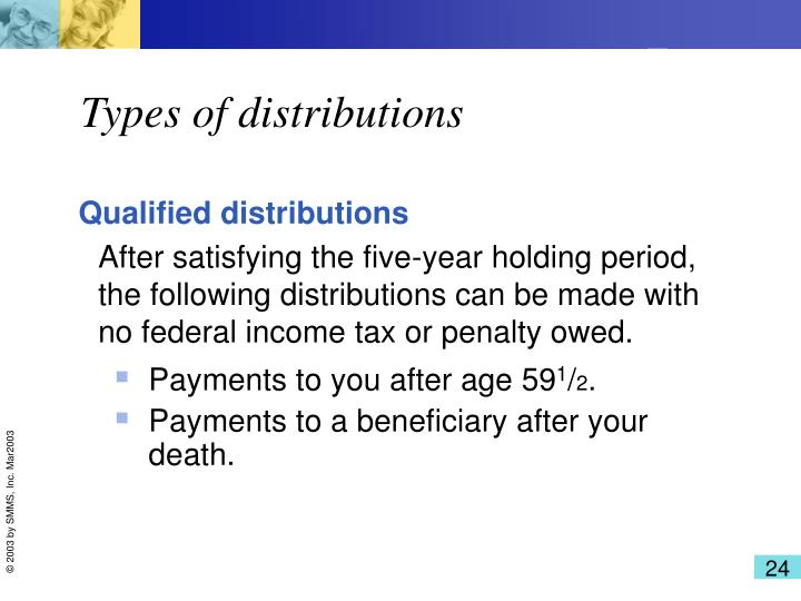 Types of distributions