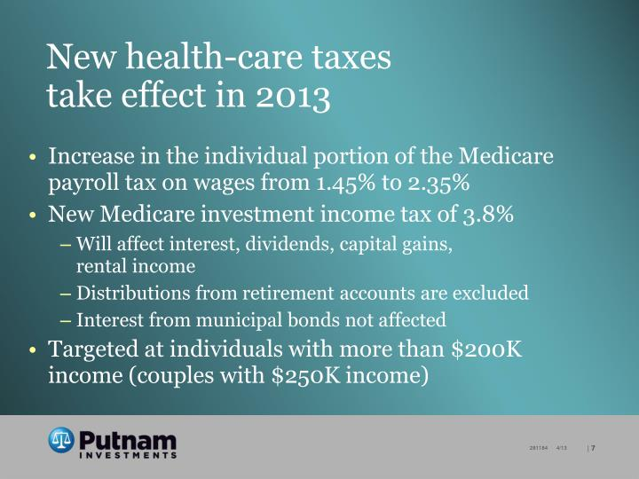 New health-care taxes