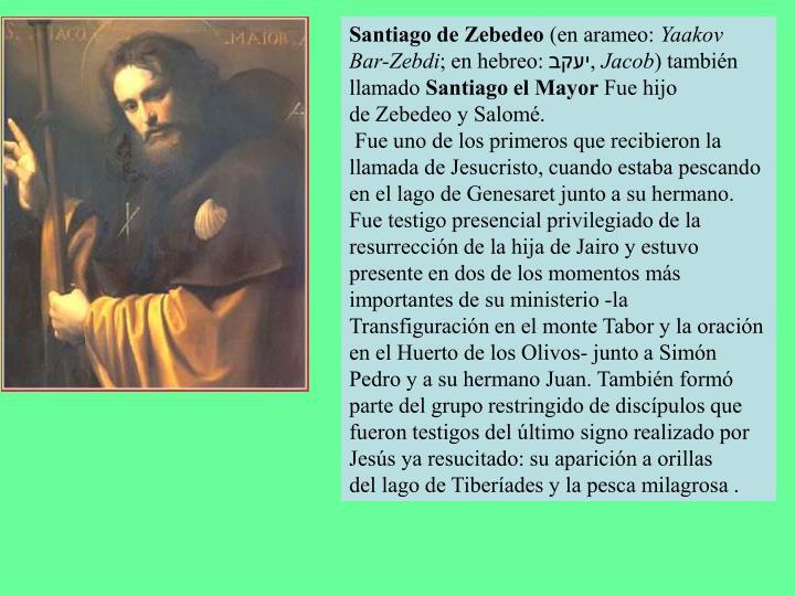 Santiago de Zebedeo