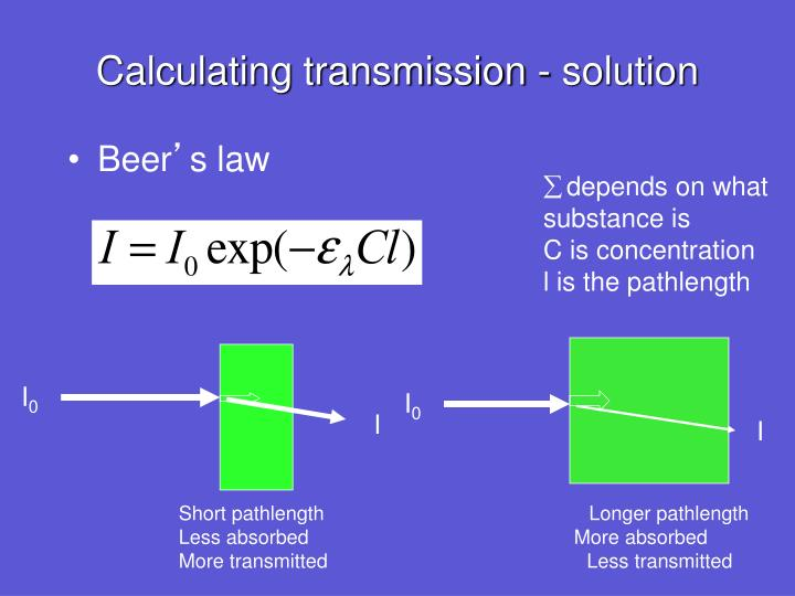 Calculating transmission - solution