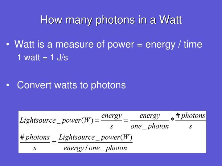 How many photons in a Watt