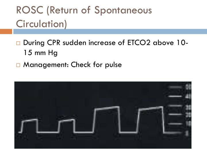 ROSC (Return of Spontaneous Circulation)